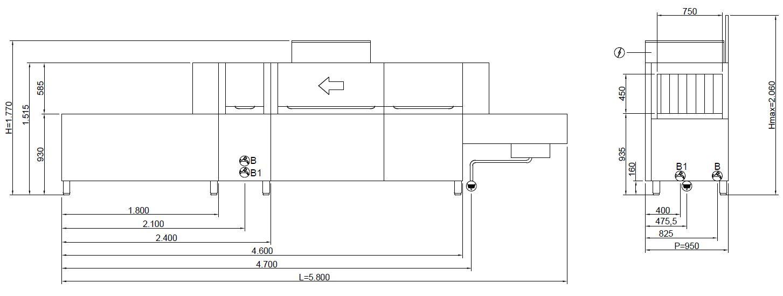 TUNNEL LINE ltm750e